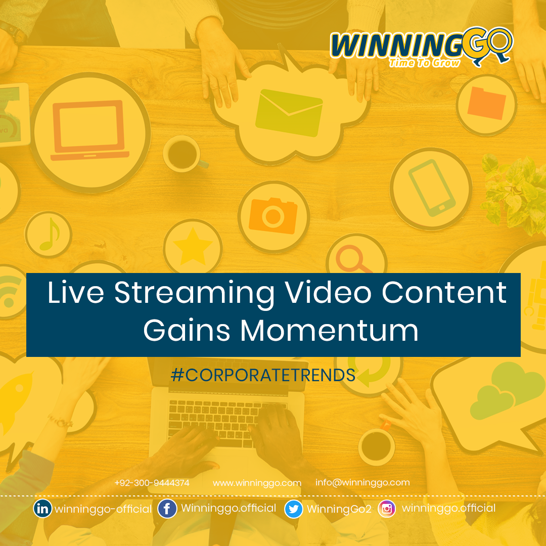 Live Streaming Video Content Gains Momentum